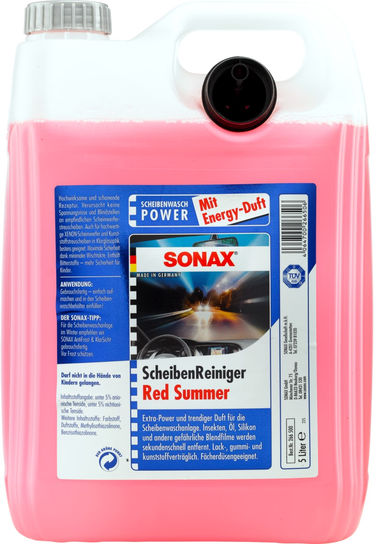 flowmaxx autopflege sonax scheibenreiniger red summer 5l. Black Bedroom Furniture Sets. Home Design Ideas